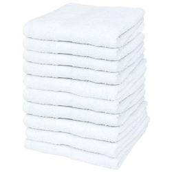 Ręczniki dla gości, 10 szt., bawełna, 500 g/m², 30x50 cm, białe