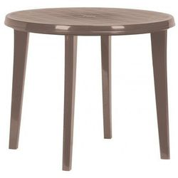 Plastikowy okrągły stół LISA - kolor cappuccino