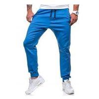 Spodnie joggery męskie niebieskie Denley 0449, kolor niebieski