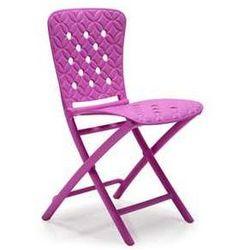 Włoskie krzesło ogrodowe na taras Nardi Zic Zac Spring różowe z kategorii krzesła ogrodowe