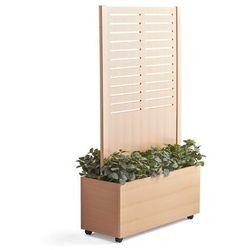 Aj produkty Ścianka działowa free, drewniana ze skrzynką na rośliny, 1720x983 mm, buk
