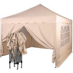 Instent ® Ekspresowy beżowy pawilon namiot ogrodowy 3x3m + 4 ścianki - beżowy