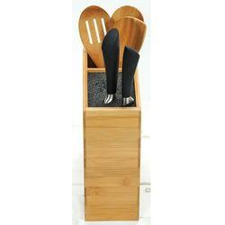 Stojak na noże kuchenne bambusowy, blok do noży, organizer do kuchni, akcesoria kuchenne, przybory do kuchni
