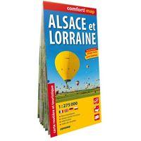 Comfort!map Alsace et Lorraine 1:275 000, praca zbiorowa