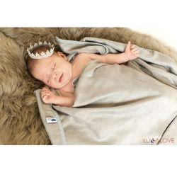 Lullalove Superro newborn gray - szary kocyk/otulacz bambusowy 70x70 -
