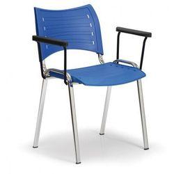 Plastikowe krzesła smart - chromowane nogi z podłokietnikami marki B2b partner