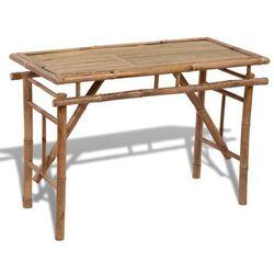 składany, bambusowy stolik marki Vidaxl