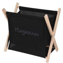 Bawełniany, składany gazetnik-czarny