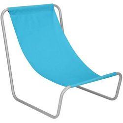 Leżak plażowy, leżanka składana metalowa niebieska marki Springos