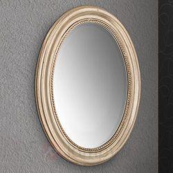Owalne lustro ścienne WILLA w drewnianej ramie (9003090247370)