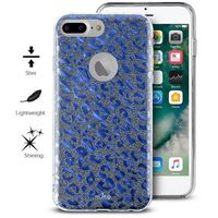 glitter shine leopard cover - etui iphone 7 plus / iphone 6s plus / iphone 6 plus (blue) limited edition marki