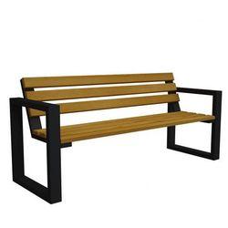 Ławka ogrodowa norin black 180cm - 8 kolorów marki Producent: elior