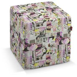 Dekoria Pufa kostka, różowo-fioletowe fotografie, 40 × 40 × 40 cm, Freestyle do -30%, kolor różowy