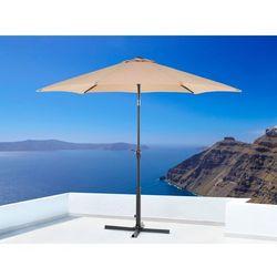 Parasol ogrodowy - mokka - ø 267 cm - metalowy - VARESE - sprawdź w wybranym sklepie