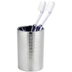 Kubek na szczoteczkę i pastę od zębów, kolor srebrny, pojemnik na szczoteczki, przybory kosmetyczne, dekor