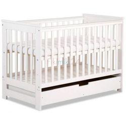 Klupś łóżeczko iwo białe dwufunkcyjne z szufladą 120x60 cm