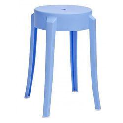 Minimalistyczny okrągły taboret Tolla - niebieski, C1070.BLUE