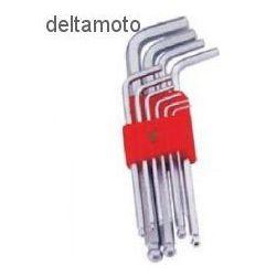 Zestaw kluczy imbusowych z kulką, SAE, 653101SAE