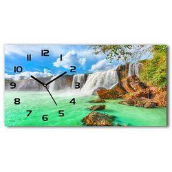 Nowoczesny zegar ścienny szklany Kaskada