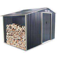 Vente-unique Altana ogrodowa z galwanizowanej stali w kolorze szarym agato 6,53 m2