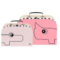 Walizka DONE BY DEER 50514 Contour Różowy (2 sztuki) - produkt z kategorii- walizeczki