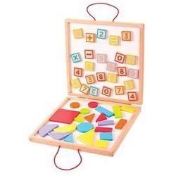 Skrzynka z Liczbami i Kształtami na Magnesy (skrzynka narzędziowa zabawka)