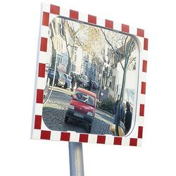 Unbekannt Lustro drogowe, lustro z sekurit, ramka z tworzywa, czerwony odblaskowy, wym. lu