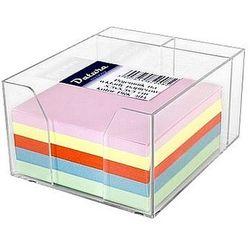 Datura Pojemnik kubik 85x85x50mm wkład kolorowy, miejsce na długopisy