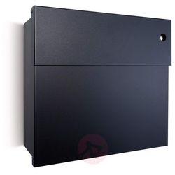 Skrzynka na listy Letterman IV czarna/czerwona (4250208616589)