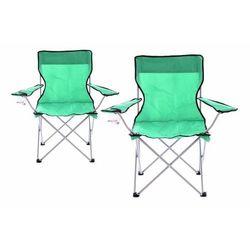 Zestaw 2 szt. składanych krzeseł kempingowych, wędkarskich OXFORD - zielone