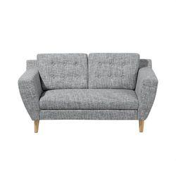 Sofa dwuosobowa tapicerowana szary melanż KUOPIO, kolor szary