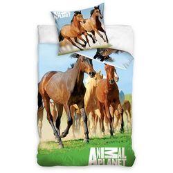 Dekoria Komplet pościeli Herd of Horses, poszwa 160x200cm, 1 poszewka 70x80cm