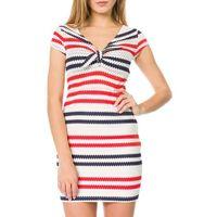 Guess Isla Sukienka Niebieski Czerwony Beżowy S