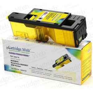 Toner cw-x6020yn yellow do drukarek xerox (zamiennik xerox 106r02762) [1k] marki Cartridge web