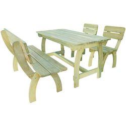 Vidaxl  meble ogrodowe 4 elementy drewno sosnowe (8718475995760)