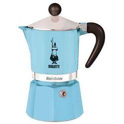Bialetti rainbow kawiarka 3 filiżanki 3 tz jasnoniebieska