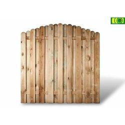Płot deseskowy sztachetowy z łukiem 180x180 - D02 - szczegóły w ploty-pergole.pl