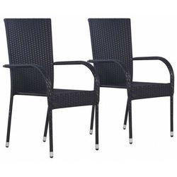 Elior Zestaw czarnych krzeseł ogrodowych - nelly