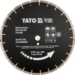 Tarcza diamentowa do asfaltu 350x25.4 mm / YT-5992 / YATO - ZYSKAJ RABAT 30 ZŁ