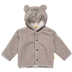 Steiff Collection Kurtka z polaru softgrey melange/gray, kolor szary