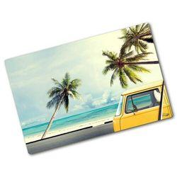 Deska kuchenna szklana Furgonetka plaża Pojazdy