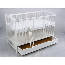 Wujec Łóżeczko niemowlęce zbyszek 120x60 białe z szufladą + gryzak darmowa dostawa!!!!!! darmowa dostawa!!!!!!!!!!!