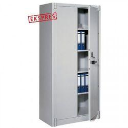 Metalowa szafa o podwyższonej odporności ogniowej - wym.: 120x50x195 cm.