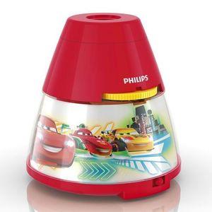 Disney - lampka nocna projektor led czerwony cars wys.11,8cm marki Philips