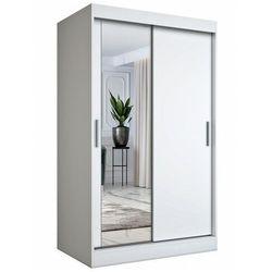 Biała szafa przesuwna z lustrem - lenora 3x marki Elior