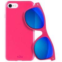 sunny kit - zestaw etui iphone 7 + składane okulary przeciwsłoneczne (różowy) marki Puro