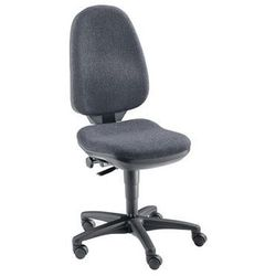 Krzesło obrotowe z siedziskiem nieckowym, bez poręczy, obicie antracytowe. łatwe marki Topstar