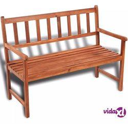 vidaXL Klasyczna, drewniana ławka ogrodowa