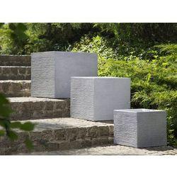 Doniczka biała kwadratowa 50 x 50 x 46 cm PAROS (4260602372622)