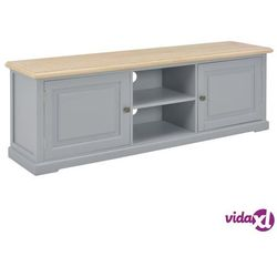 vidaXL Szafka pod TV, szara, 120 x 30 x 40 cm, drewniana